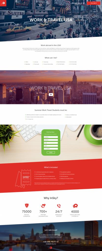 Work&Travel_page / Brand development / Branding / Design and development support / Digital / eCommerce / Front end/Back end Development / Logo design / Mobile / Mobile apps design / Mobile apps development / Package design / Rebranding / Responsive Web Design / Service design / UI/UX design