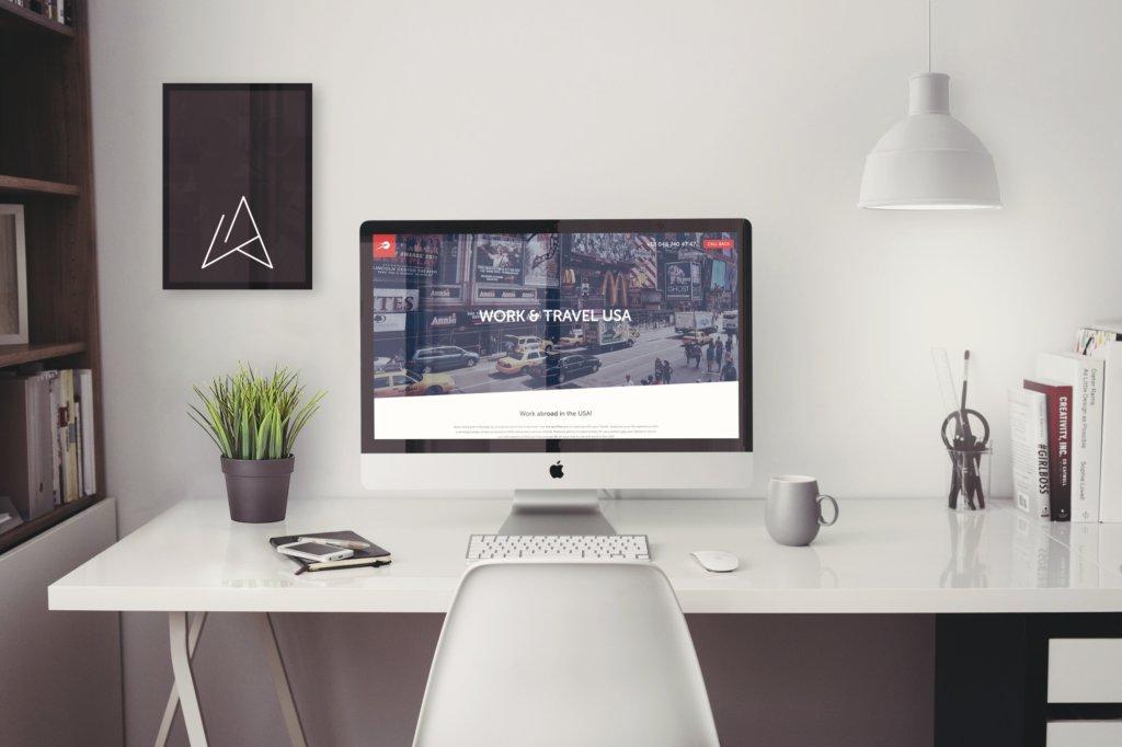 Work & Travel Landing Page design development wordpress integration responsive web design